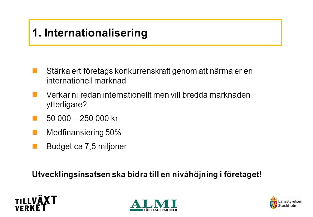 1. Internationalisering