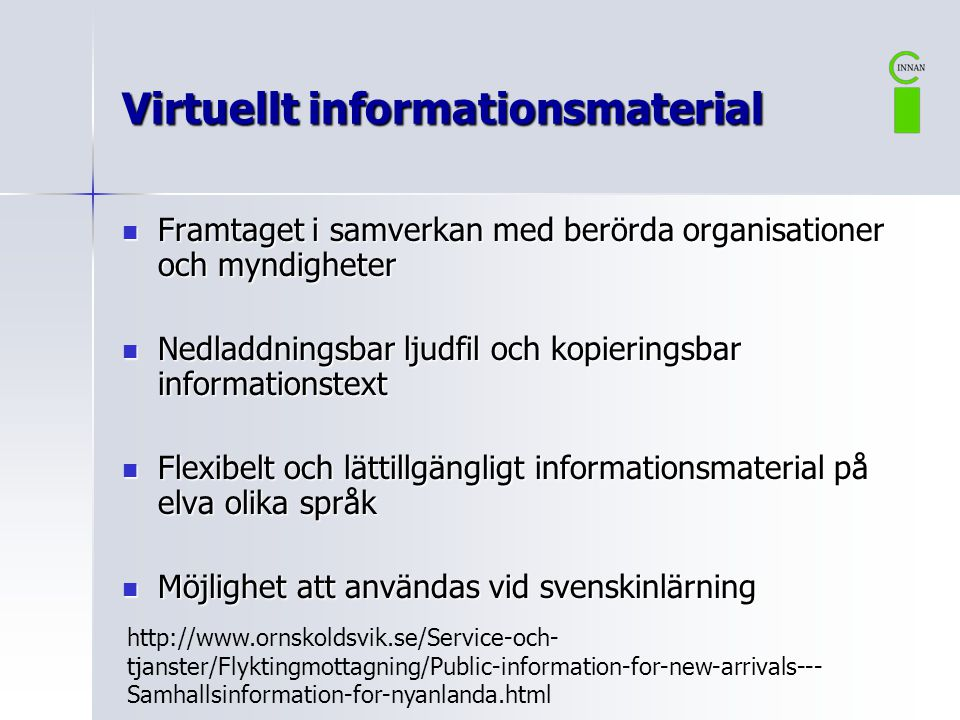 Virtuellt informationsmaterial