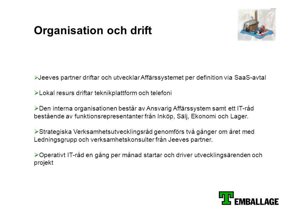 Organisation och drift