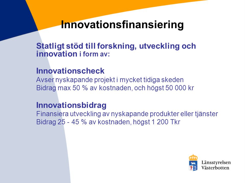 Innovationsfinansiering