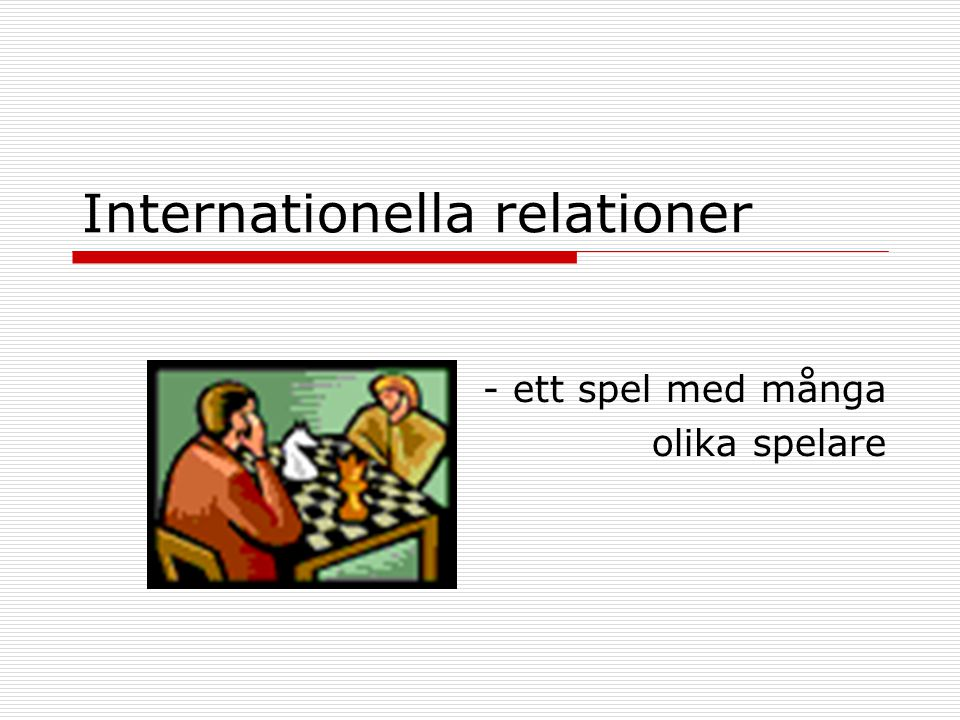Internationella relationer