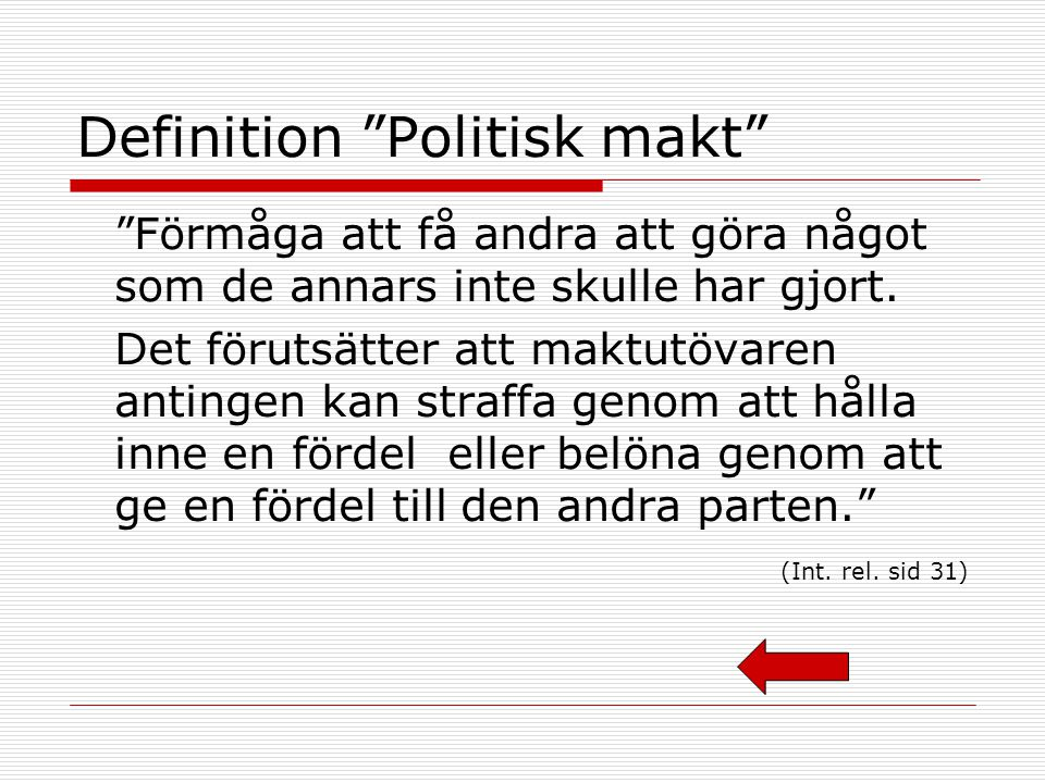 Definition Politisk makt