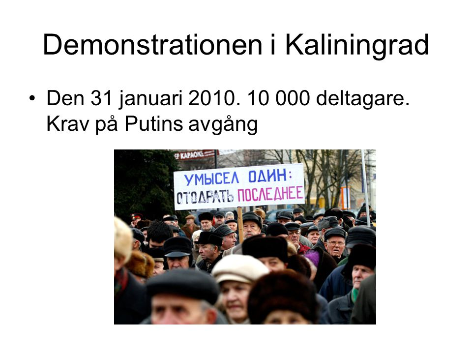 Demonstrationen i Kaliningrad