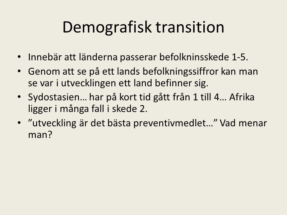 Demografisk transition