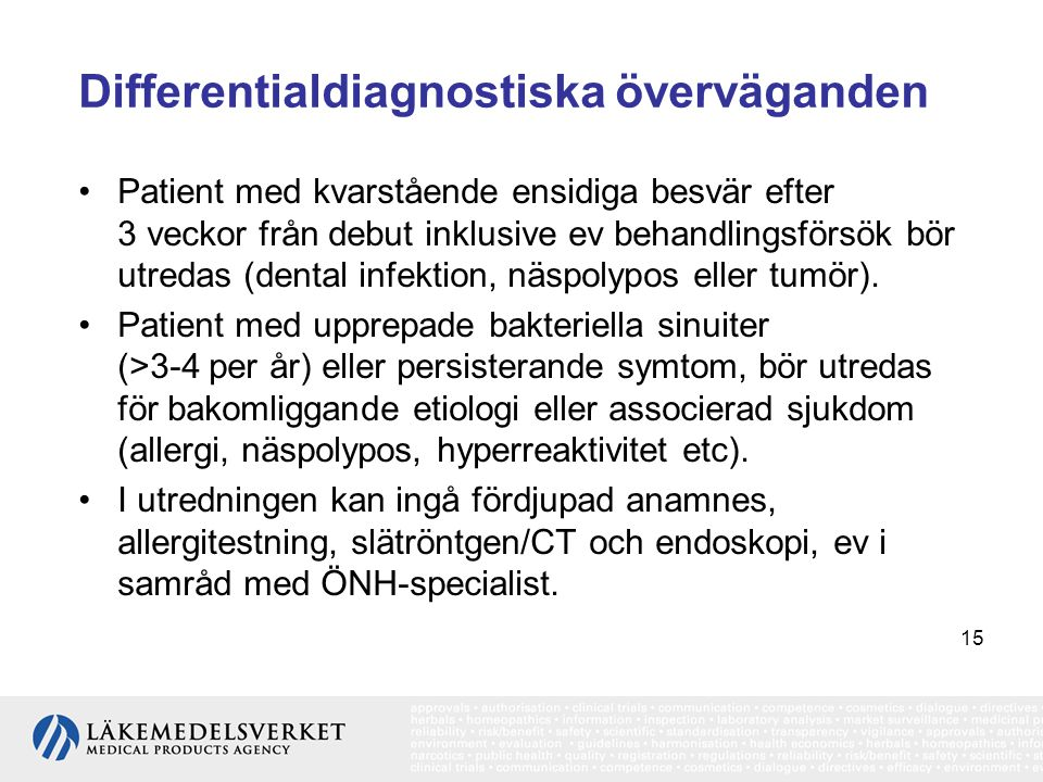 Differentialdiagnostiska överväganden