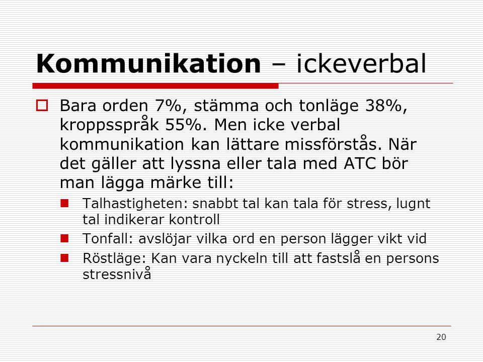 Kommunikation – ickeverbal