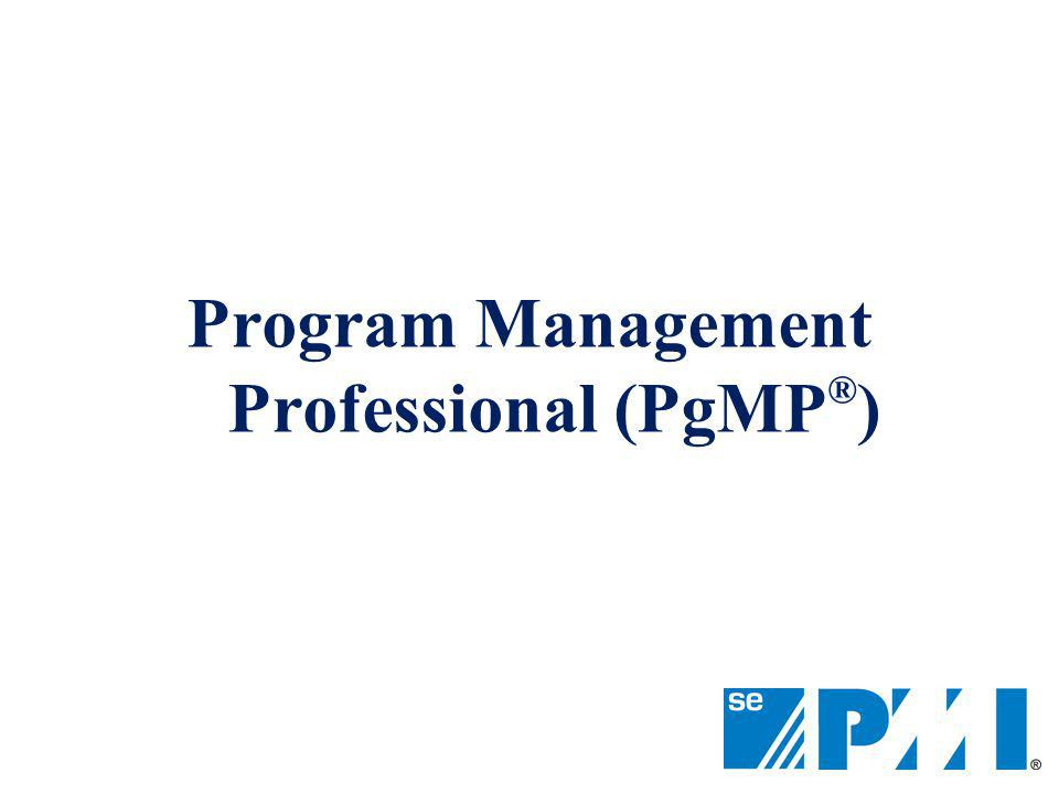 Program Management Professional (PgMP®)