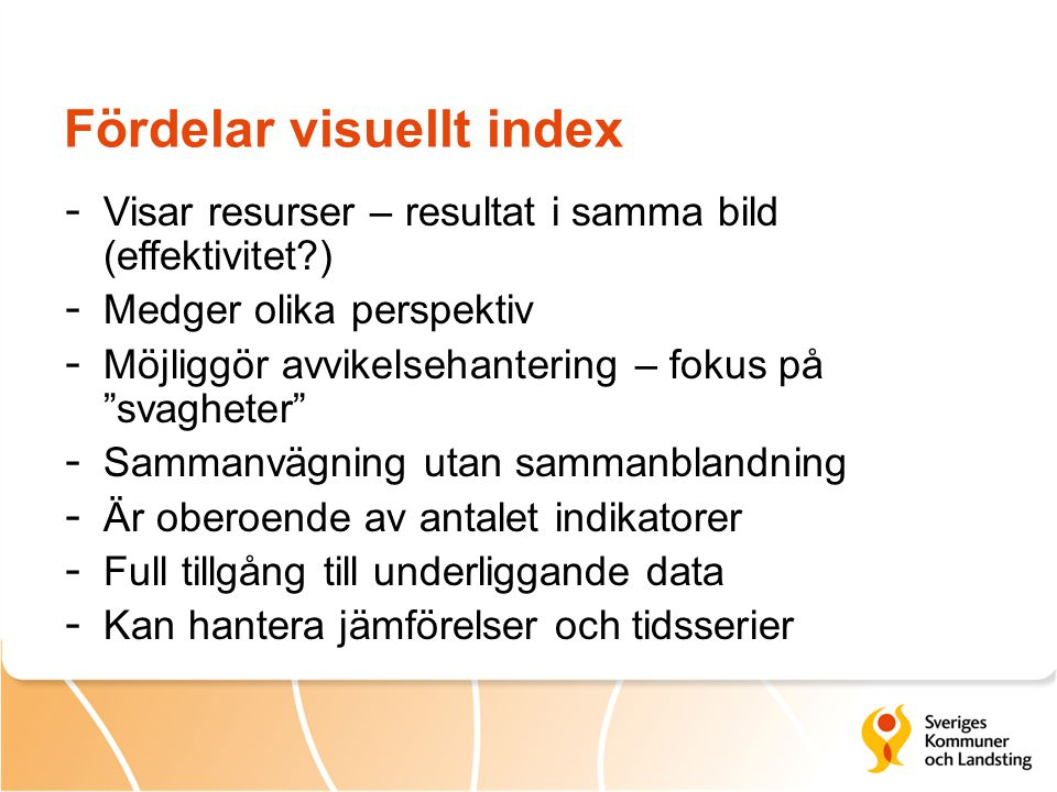 Fördelar visuellt index