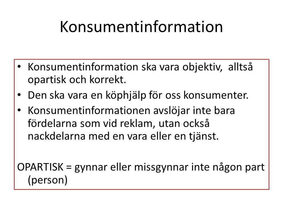 Konsumentinformation