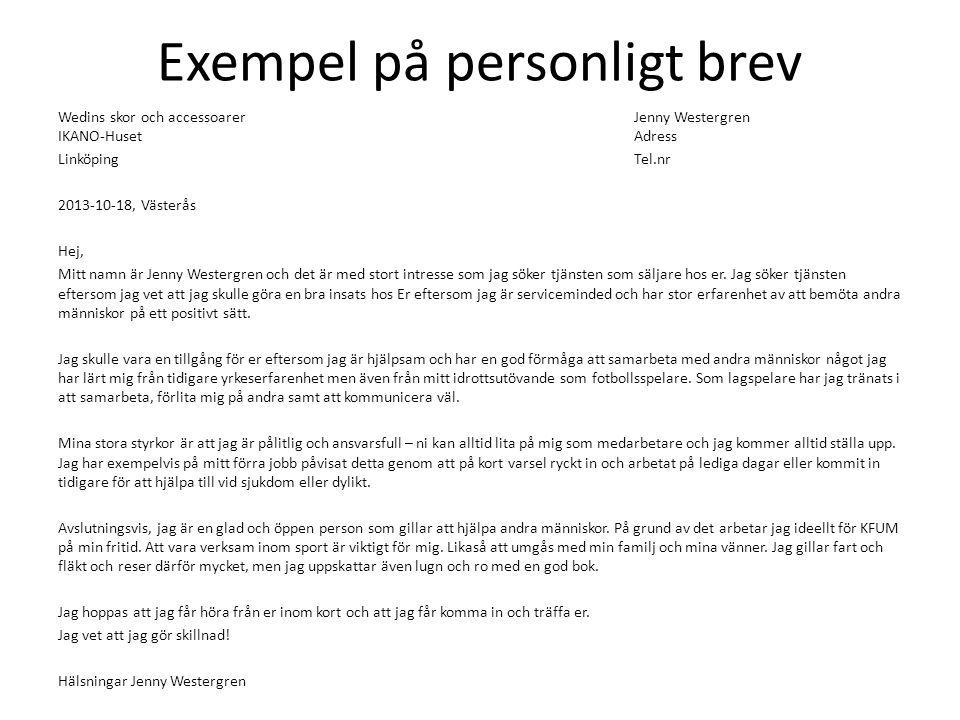 personligt brev  u2013 din egen form av marknadsf u00f6ring