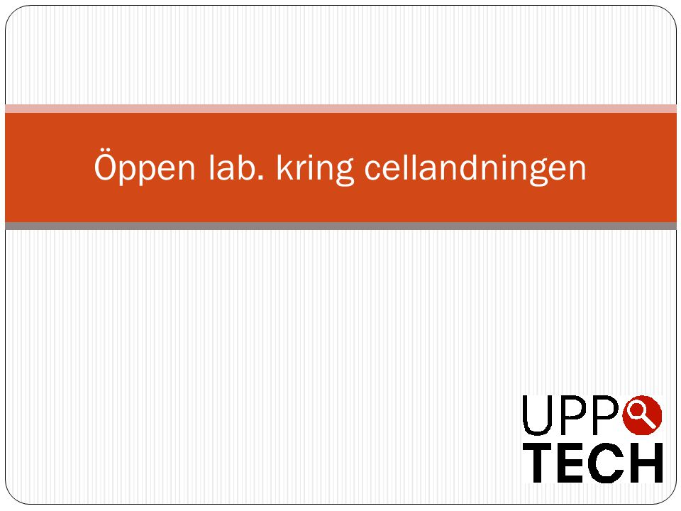 Öppen lab. kring cellandningen