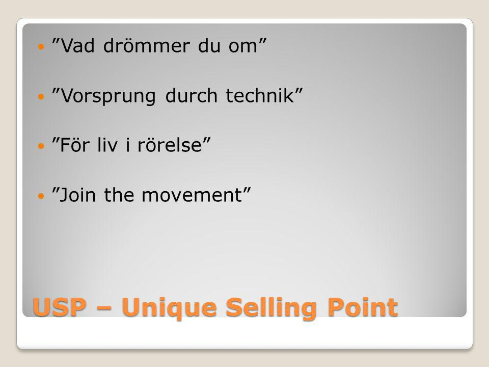 USP – Unique Selling Point