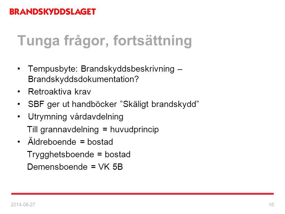 Information, Växjö, Nya brandskyddsregler i BBR