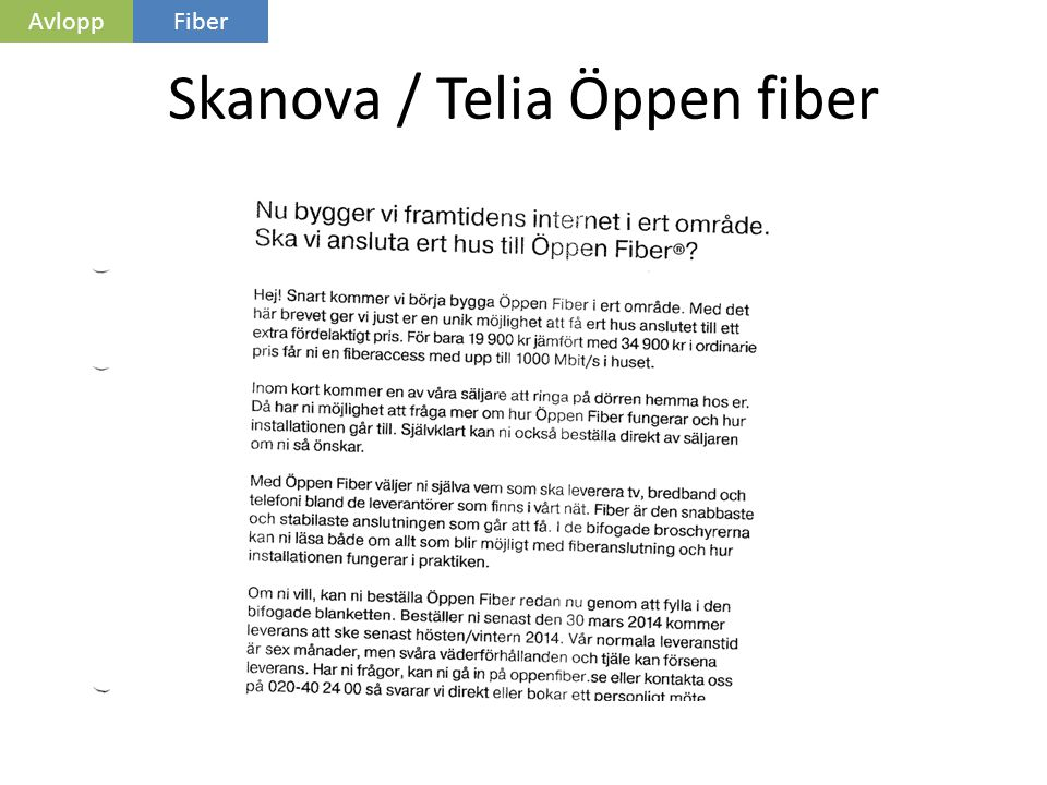 skanova fiber pris