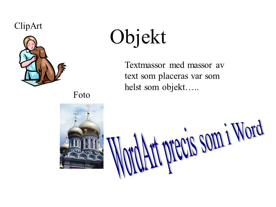 WordArt precis som i Word