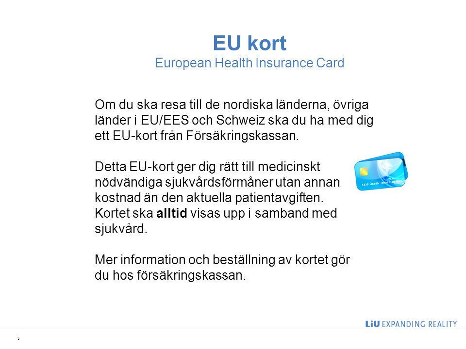 EU kort European Health Insurance Card