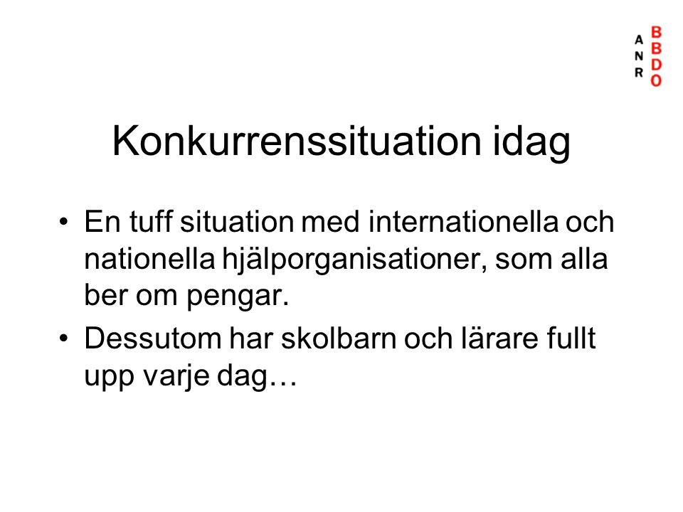Konkurrenssituation idag