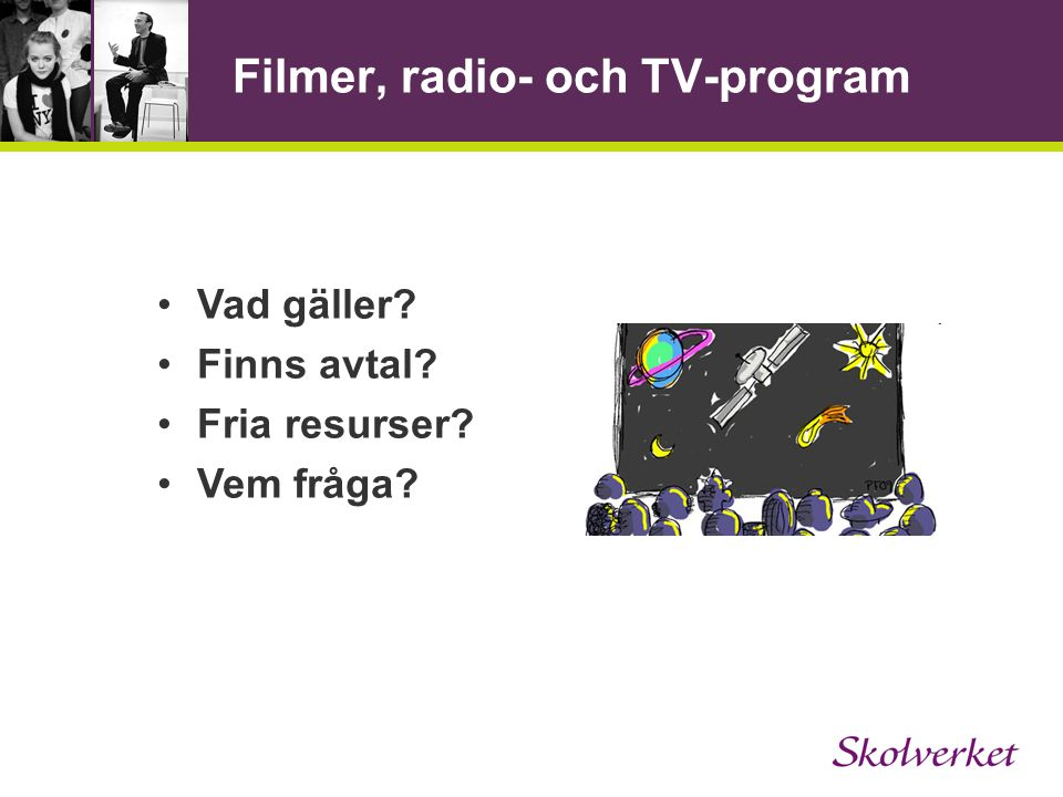 Filmer, radio- och TV-program