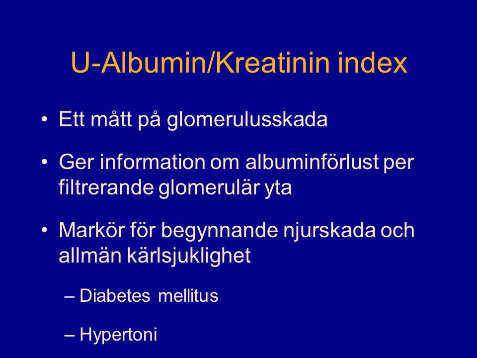 U-Albumin/Kreatinin index
