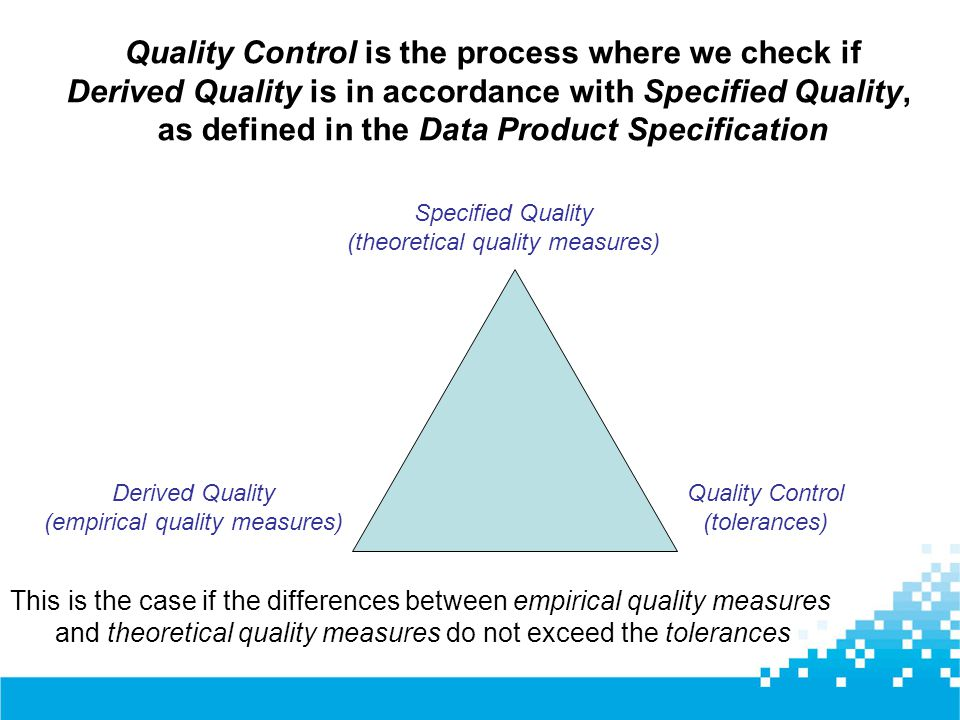 Quality Control is the process where we check if