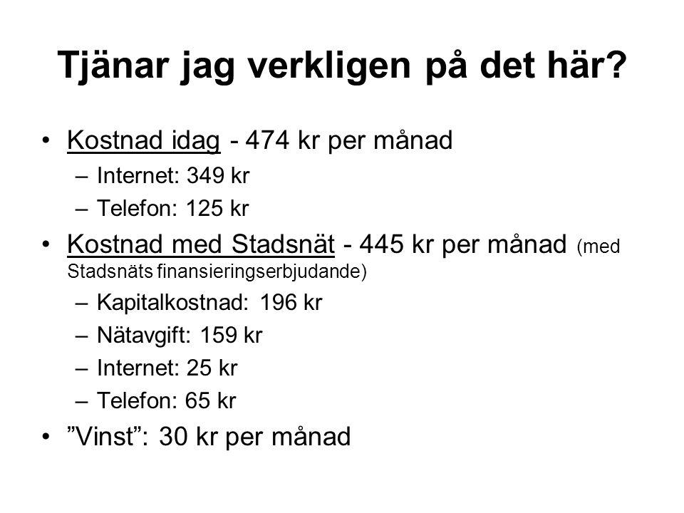 internet kostnad per månad