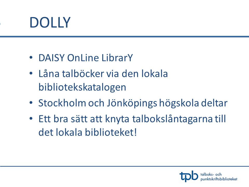 DOLLY DAISY OnLine LibrarY