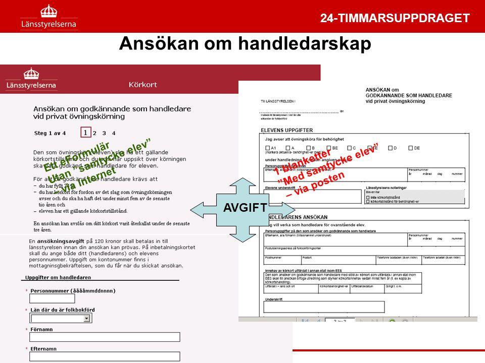 ansöka om handledare körkort