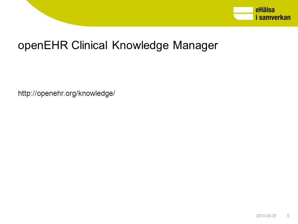 openEHR Clinical Knowledge Manager