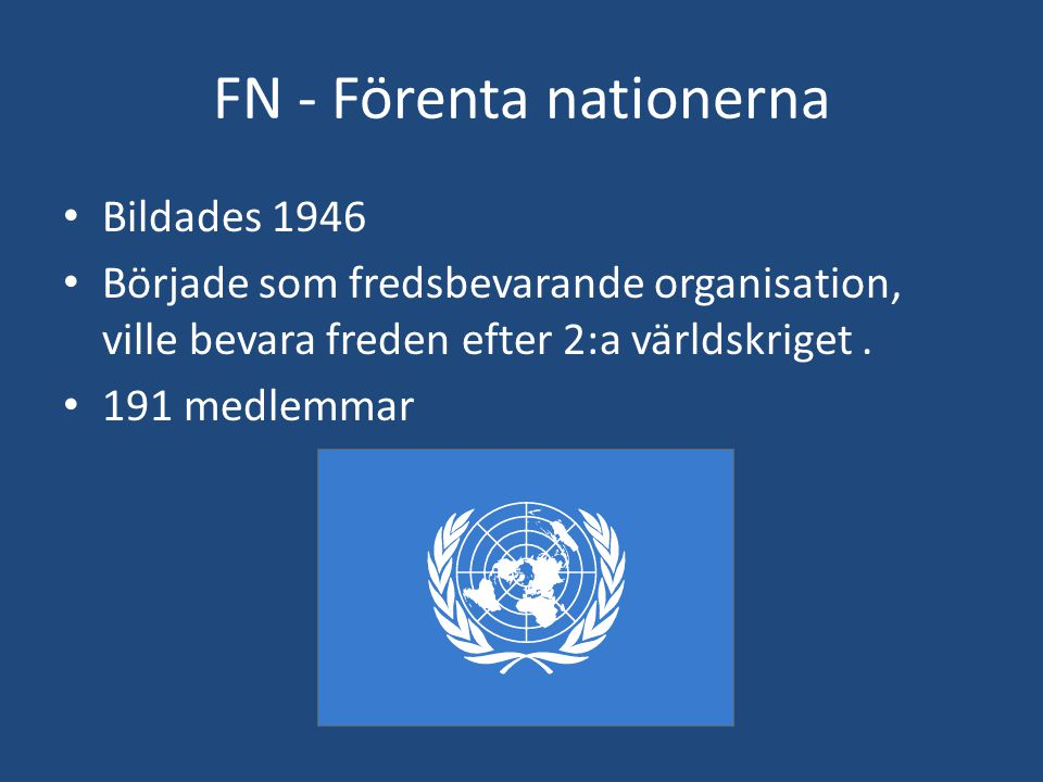 FN - Förenta nationerna