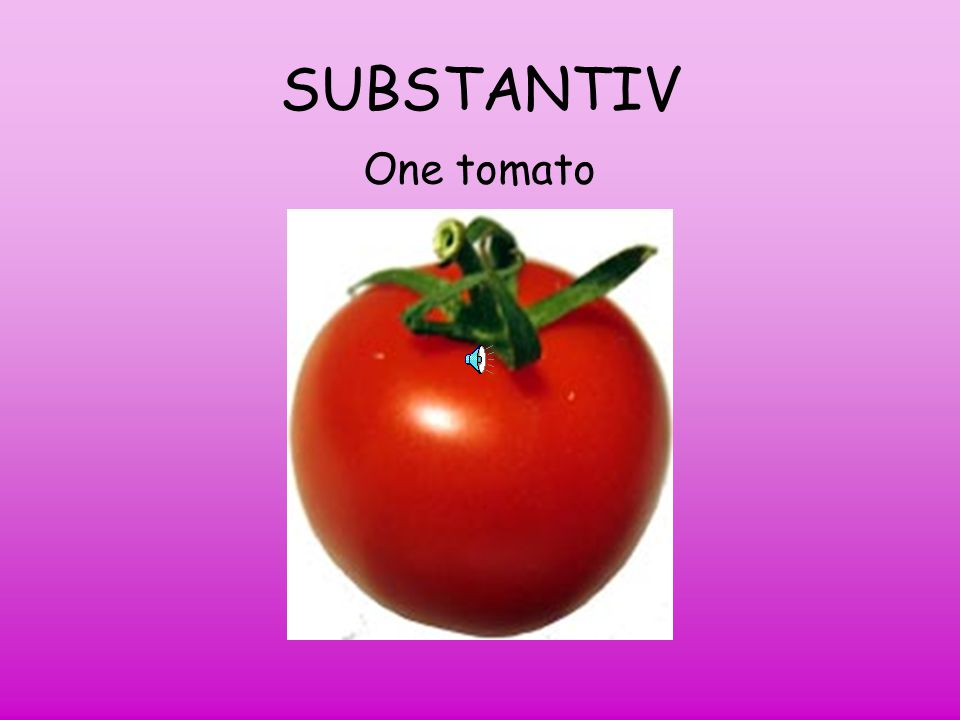 SUBSTANTIV One tomato