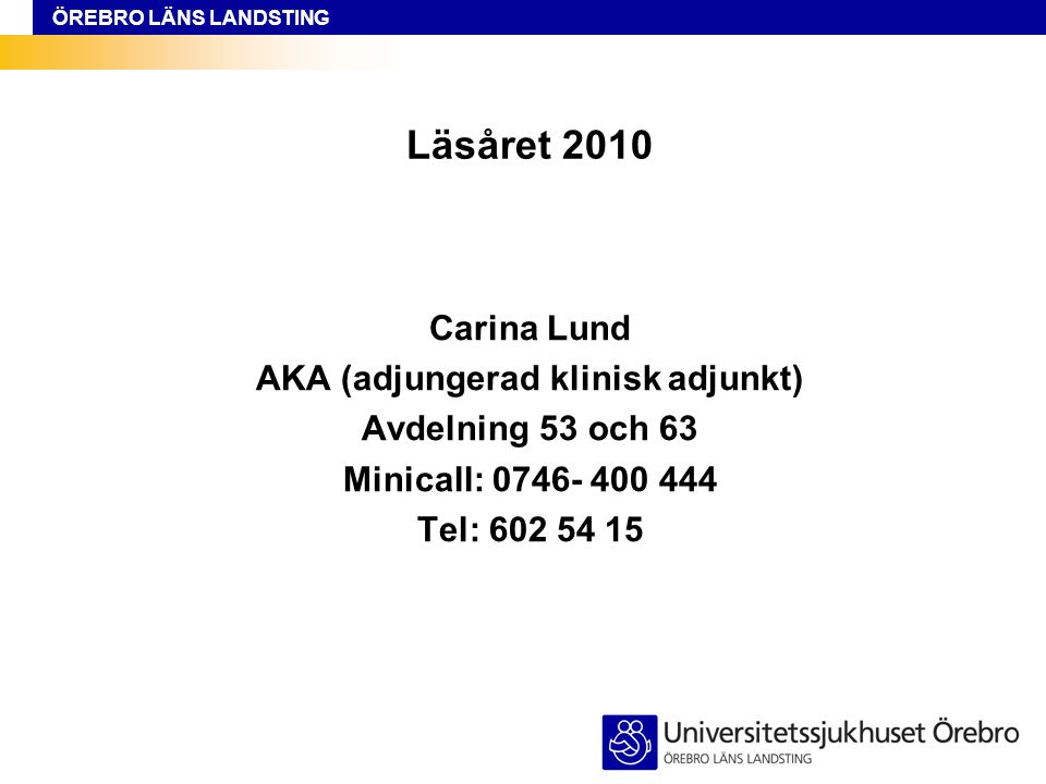 AKA (adjungerad klinisk adjunkt)