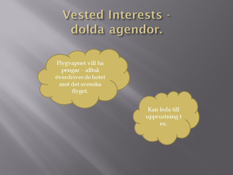 Vested Interests - dolda agendor.