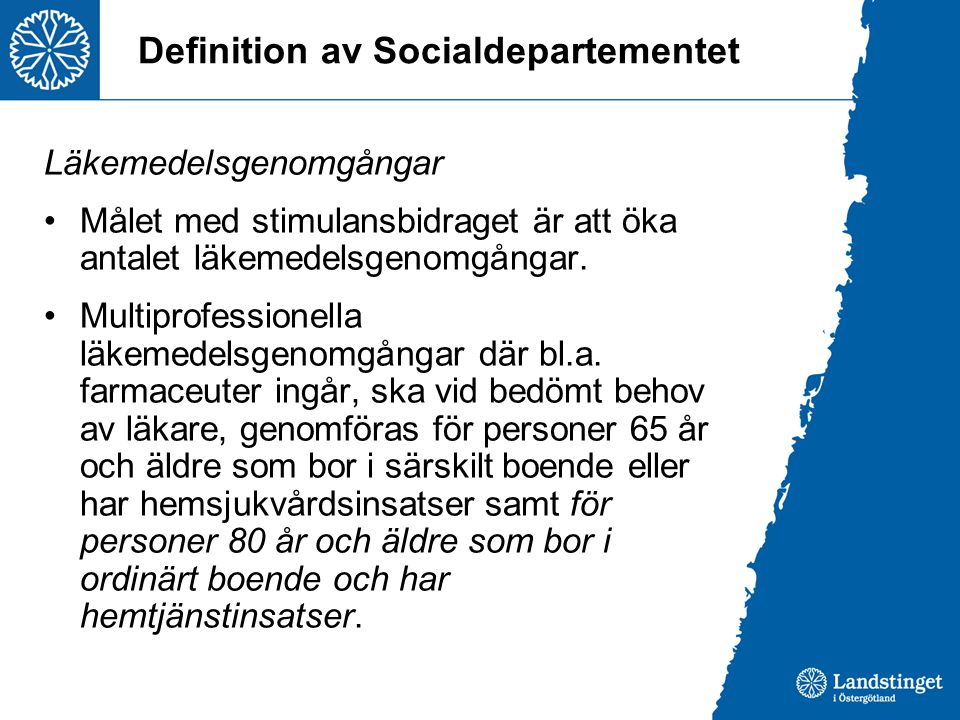 Definition av Socialdepartementet