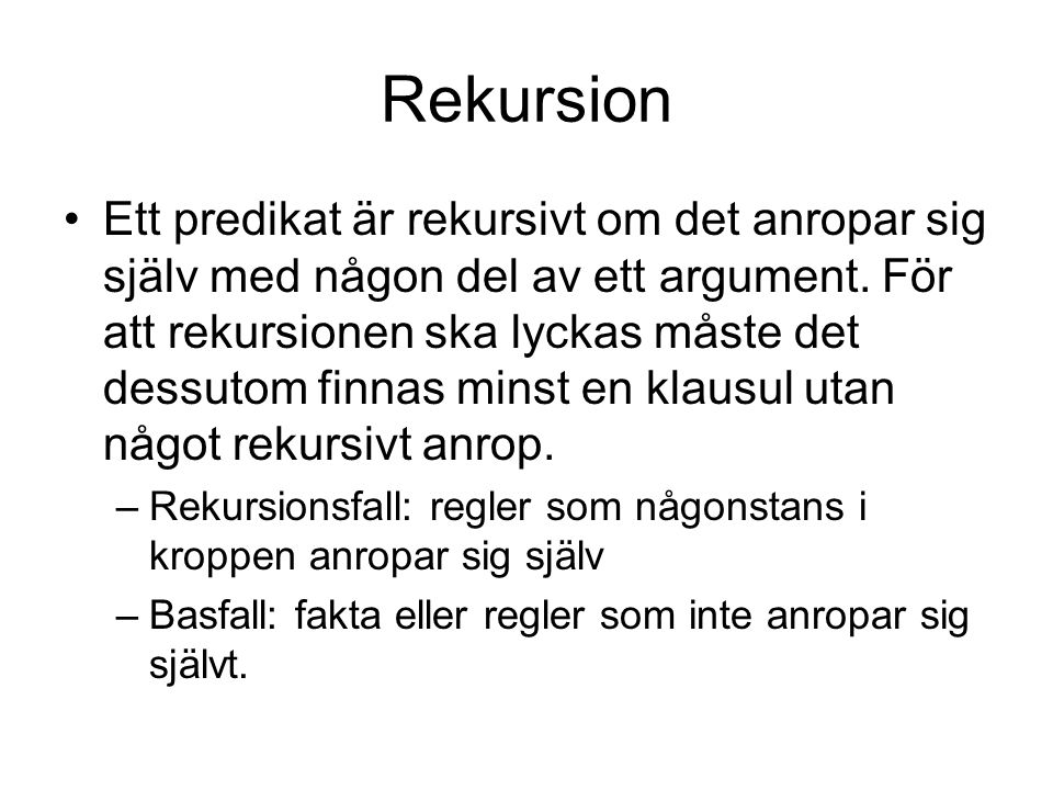 Rekursion