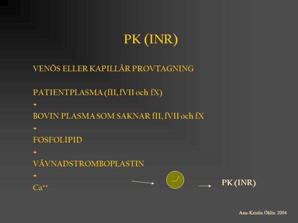 pk inr provtagning