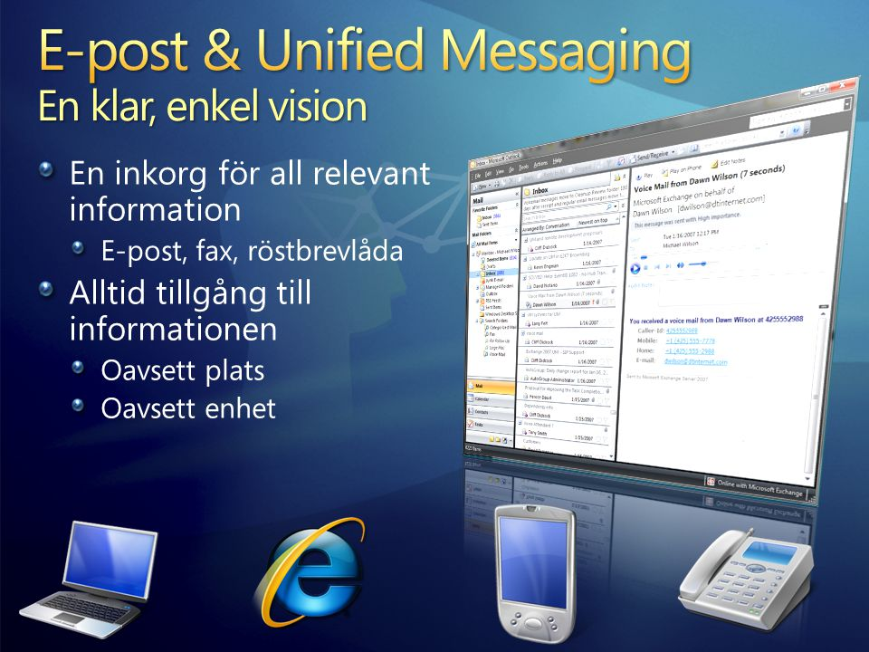 E-post & Unified Messaging En klar, enkel vision