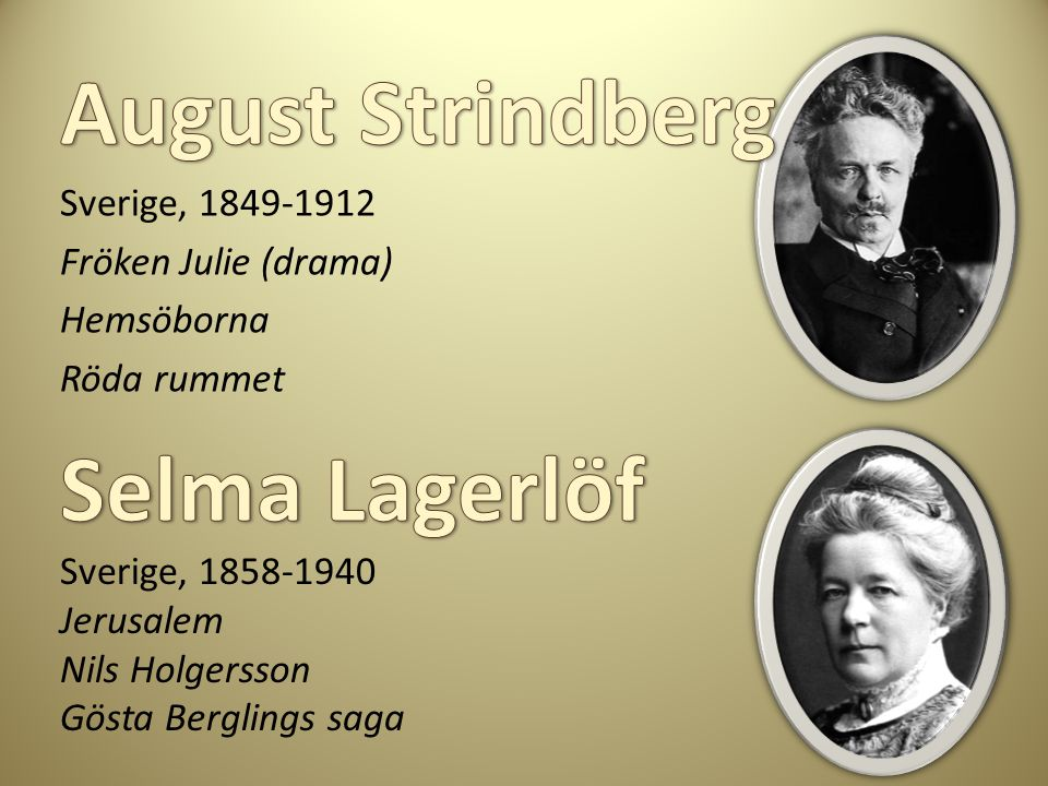August Strindberg Selma Lagerlöf