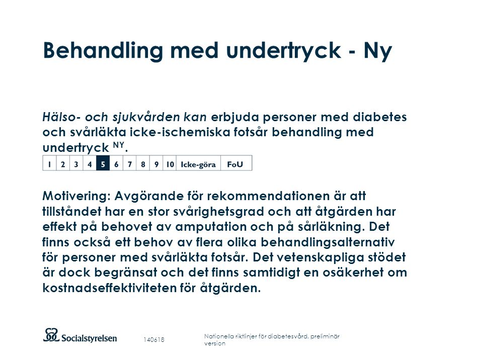 Behandling med undertryck - Ny