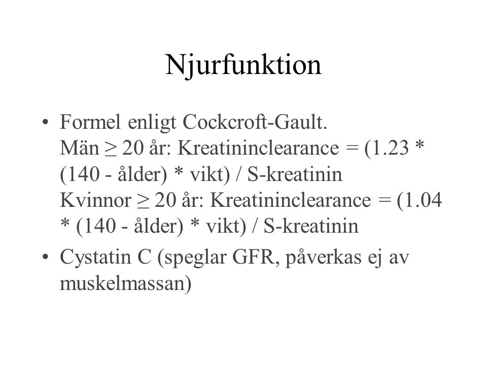 Njurfunktion