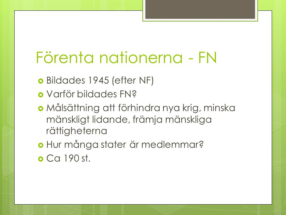 Förenta nationerna - FN