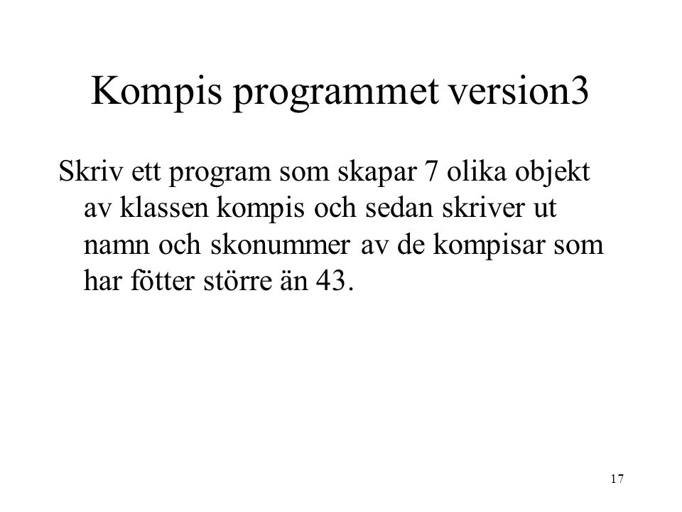 Kompis programmet version3