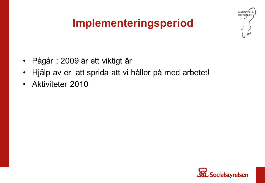 Implementeringsperiod