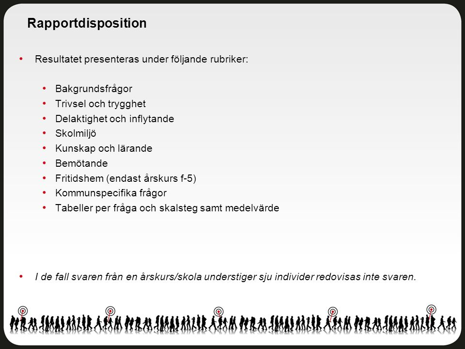 Rapportdisposition Resultatet presenteras under följande rubriker: