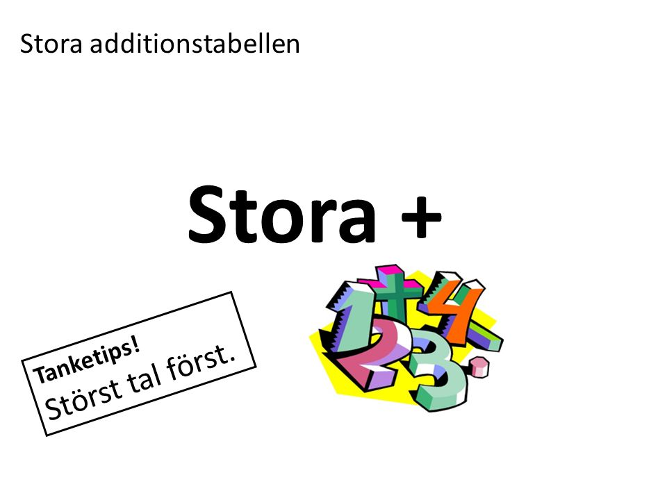 Stora additionstabellen