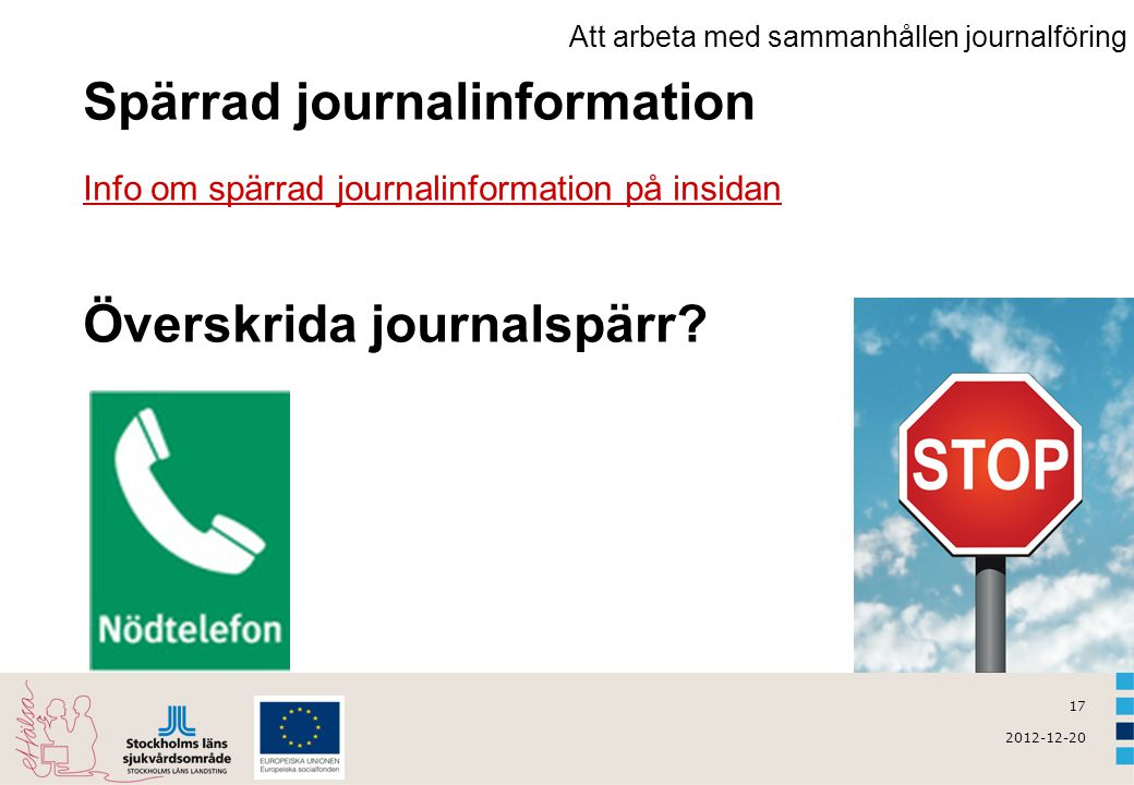 Spärrad journalinformation