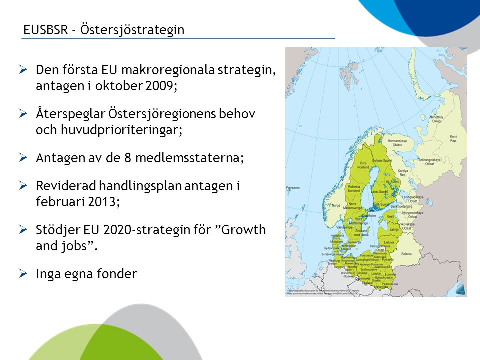 EUSBSR - Östersjöstrategin