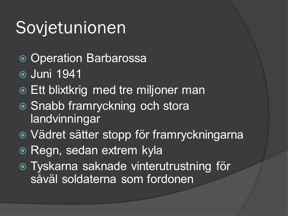 Sovjetunionen Operation Barbarossa Juni 1941