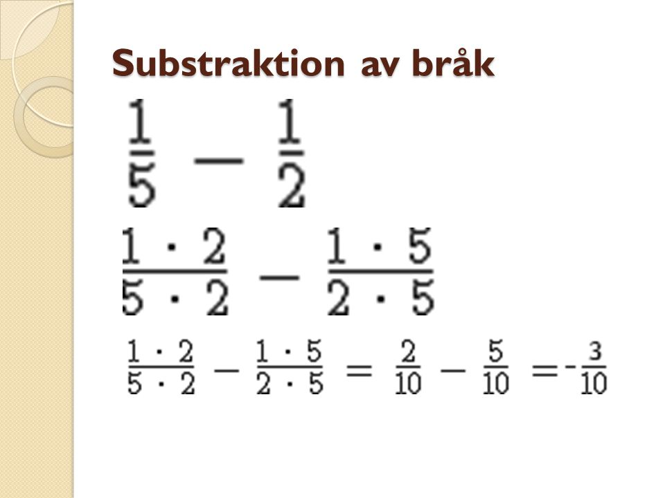 Substraktion av bråk