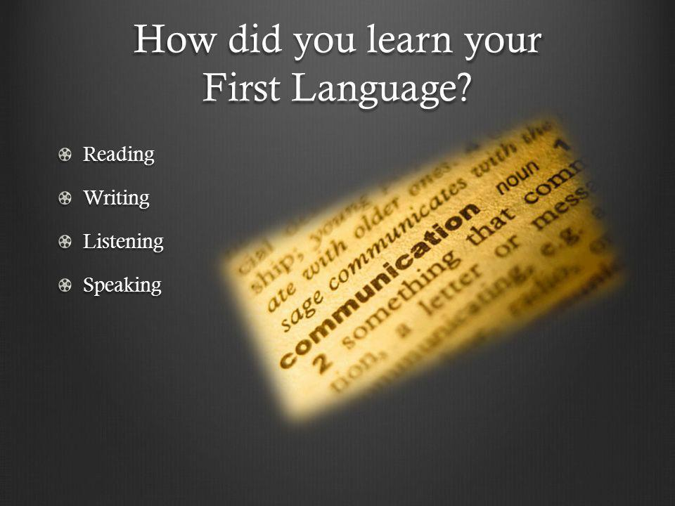 How did you learn your First Language