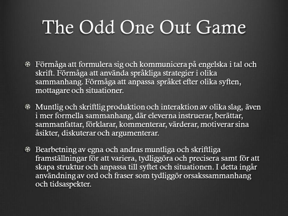 The Odd One Out Game